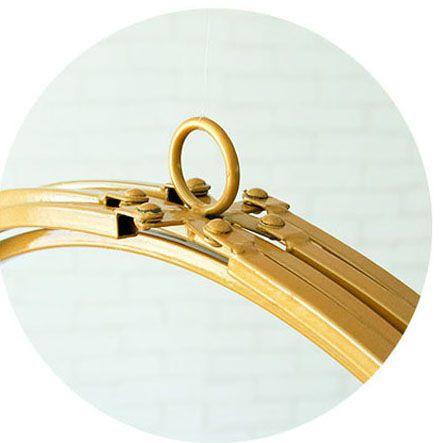 Gold Metal Sphere Ceiling Pendant Decoration - Diameter 48cm