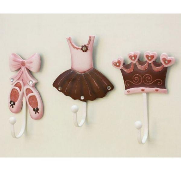 Gantungan Baju Anak Hiasan Dinding Pajangan Dinding Princess Premium Hook