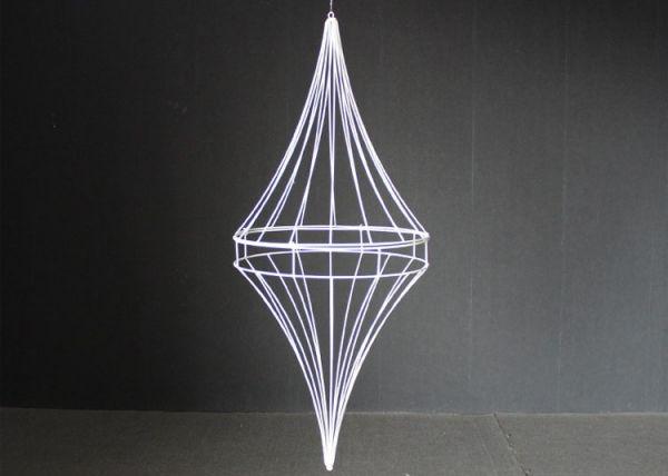 White Gyro Ceiling Pendant Decoration - Height 100cm