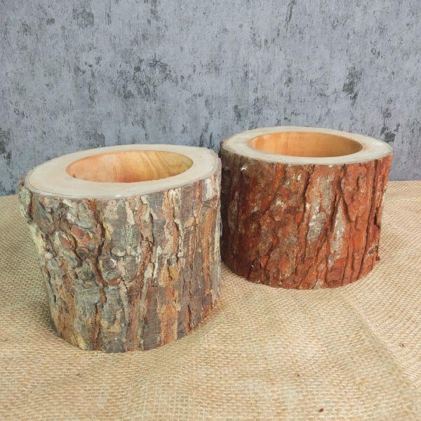 Wood Skin Vase Kayu